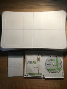Nintendo-Wii-Fit-Balance-Board-RVL-021-Manual-amp-Wii-Fit-Complete-Game-Bundle