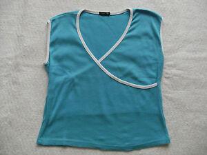 Damentop-Damenshirt-Top-Shirt-gr-M-tuerkis