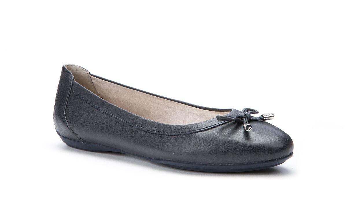 GEOX Charlene D32Y7A Schuhe Quaste Ballerina aus weich Leder Quaste Schuhe mit Schleife 6e08b3