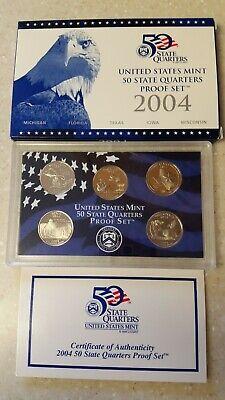 1999 United States Mint 50 State Quarters Proof Set Box /& COA a