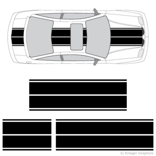 Pontiac Sunfire or Solstice Dual Rally Racing Stripes 3M Vinyl Stripe Decals