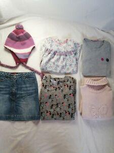 Lot-de-6-vetements-8-ans-fille-robe-longue-manches-vert-motif-Hiboux-marque-Mexx