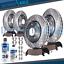 thumbnail 1 - Front Rear Brake Rotors + Brake Pads Dodge Ram 1500 Drilled Rotors Pad 5 Lug