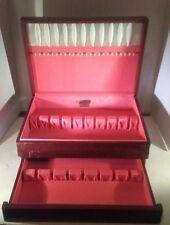 Vintage Rogers Oneida Flatware Chest Wood Silverware case