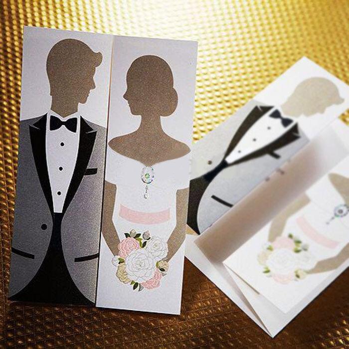 Einladungskarten Hochzeit TH0210 mit Umschlag  Hochzeitseinladungskarte