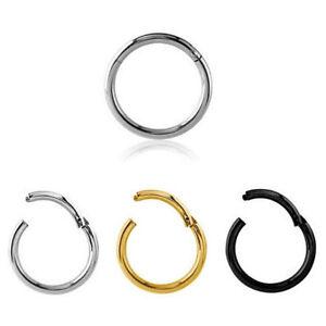 Clicker-Setto-Piercing-Universal-Anello-Cerniera-Orecchio-Segmento-Daith-Labbro