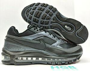Details about Nike Air Max 97 BW Mens Triple Black Metallic Running Training AO2406 001 NIB