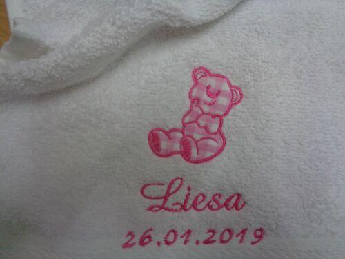 Baby Spucktuch mit Namen bestickt  Lätzchen Tücher  Kinder Handtuch
