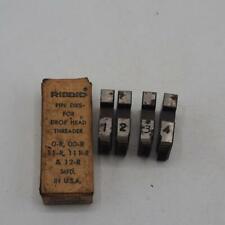 Set Of Ridgid 38 Inch For 111 R 11 R 12 R More Pipe Threader Die Set Vintage
