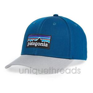 Patagonia Mens - P-6 Logo Roger That Hat Cap - Big Sur Blue ... 77b3c7f2ecb