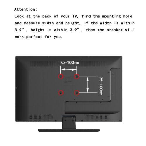 Articulating LED LCD Monitor Flat TV Wall Mount Tilt Bracket 19 22 23 24 26 27