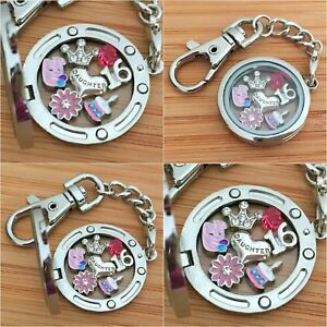 Image Is Loading 15th 16th Birthday Gift Floating Memory Locket Keyring