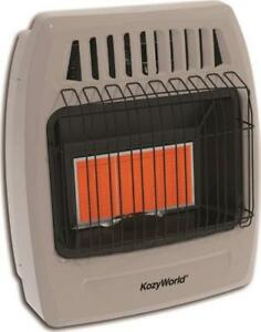 NEW-KOZY-WORLD-KWP392-3-PLAQUE-INFRARED-LP-GAS-HEATER-750-FT-WALL-MOUNT-7006380