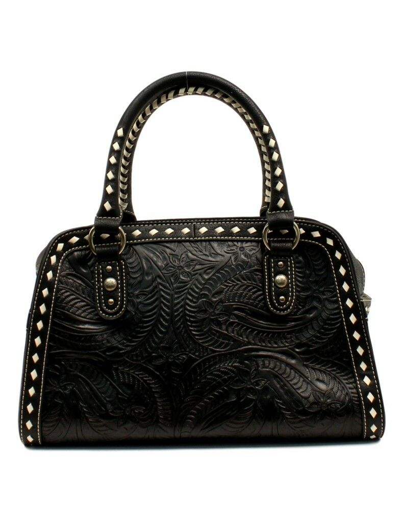 Blazin Roxx Womens Quilted Paisley Satchel Bag Red One Size