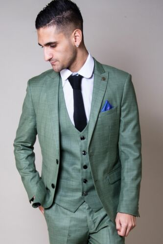 Green Marc Darcy Blazer Business Formal Mens Check Suit Jacket EfwqxS