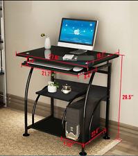 New Home Office Pc Corner Computer Desk Laptop Table Workstation Furniture Black