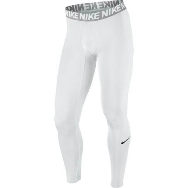 Nike Compression Tights Pants Full Length White Men's Size 2xl XXL 748865  100