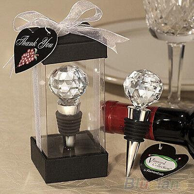 New Arrival Crystal Elegant Red Wine Bottle Stopper Reusable Vacuum Sealed Gift