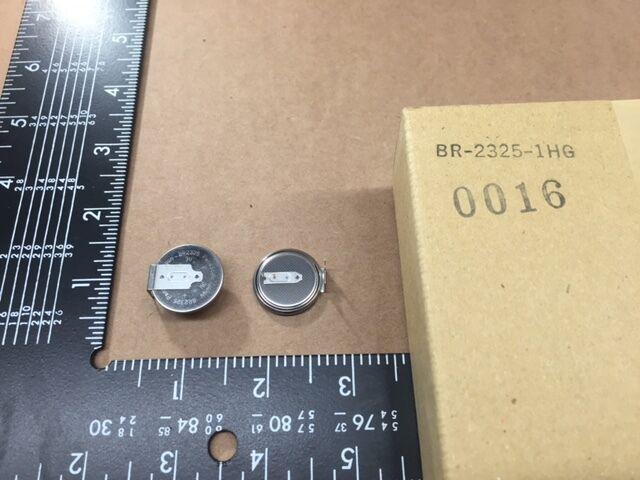 (10 pcs) BR2325-1HG Panasonic, Lithium Coin Battery, 3V 165mAh, Size: 23mm