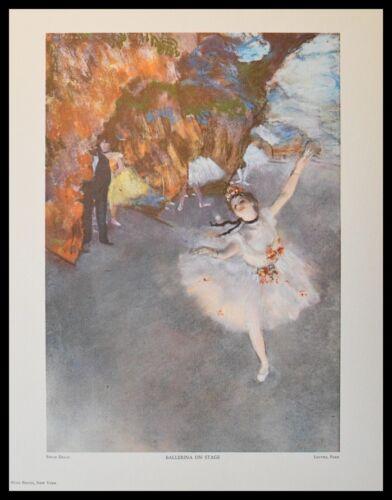 Edgar Degas Ballerina auf der Bühne Lichtdruck mit Alu Rahmen