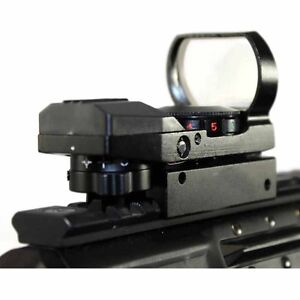 Tactical Reflex Red Green Dot Holographic Scope for 20mm Rails Reticle benefitup
