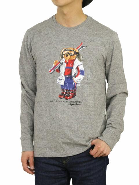 Polo Ralph Lauren Mens Gray Bear Tee Shirt Ski 2xl XXL