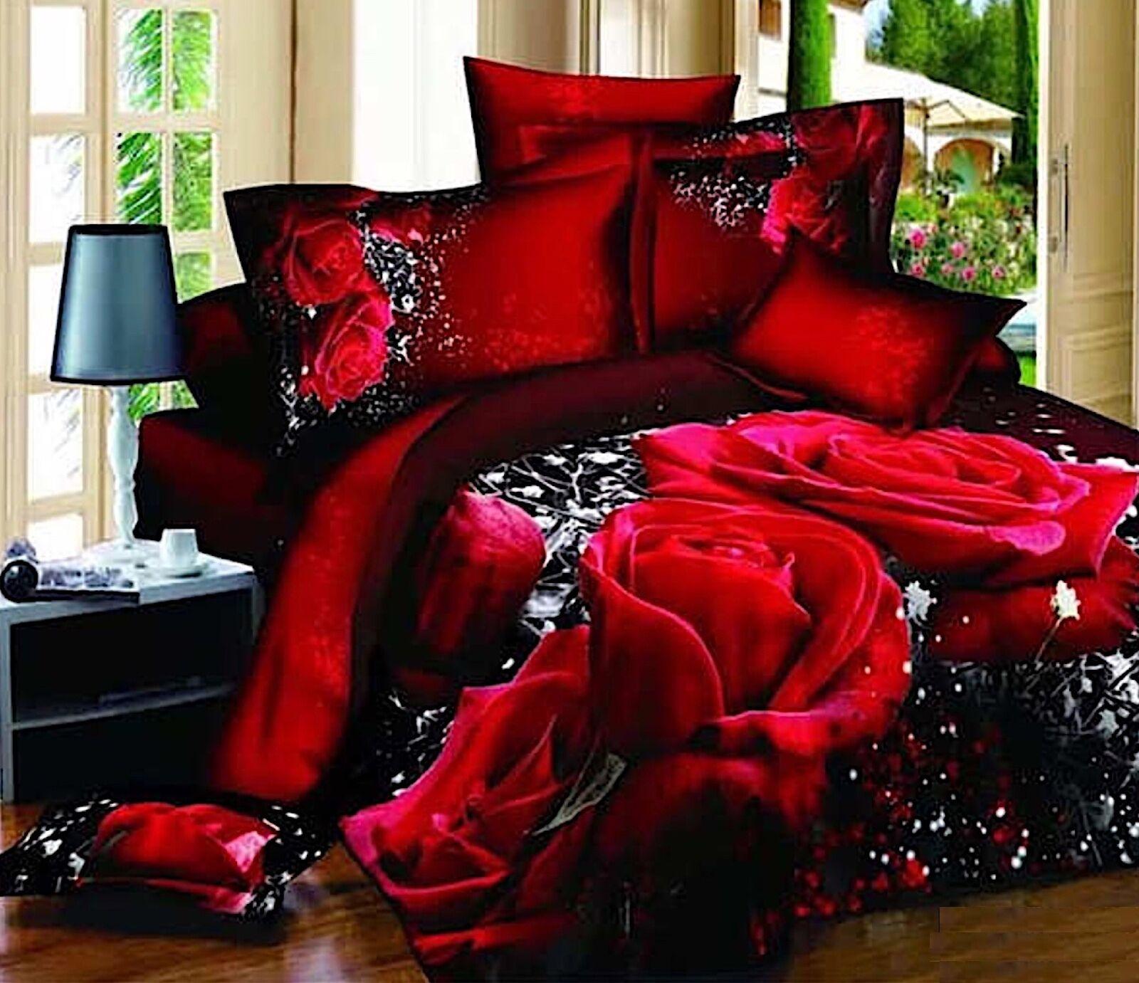 Set Letto Copri Piumone Lenzuolo Federe Copripiumone Duvet Cover Bed BED0041 P
