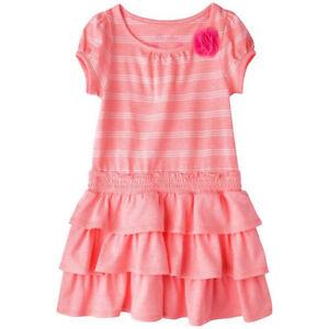 Cherokee Infant Toddler Girl Peach Knit Stripe Dress Size ...