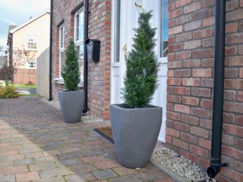 2 BEST artificiale 3 piedi 90 cm TOPIARIA Cedar Outdoor alberi ALT Erba Spirale Palla Bay