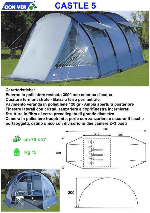 Tenda igloo Conver CASTLE 5 POSTI