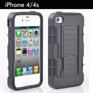 TPU-Case-Cover-For-Apple-iPhone-4-4S-Heavy-Duty-Tough-Shockproof-Kickstand