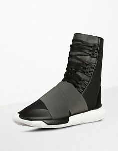 buy popular 00696 93849 Details about Adidas Y-3 Qasa Boot Black/White US 9.5 Brand New acg y3  yohji nikelab acronym