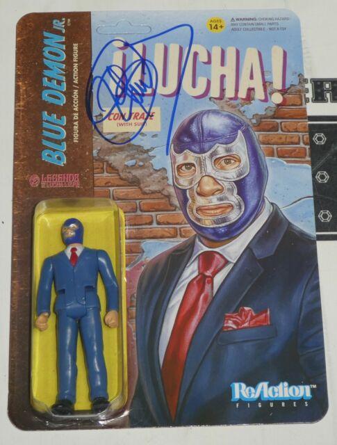 Blue Demon Jr. Signed Super7 Lucha Libre Action Figure BAS Beckett COA NWA AAA 1