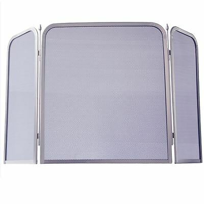 Fire Screen Square Spark Guard Fireplace Fireside Panel Folding By Home Discount