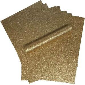 ROSE-Gold-Glitter-Carta-A4-luccicante-morbido-praticamente-non-capannone-250gsm-10-FOGLI