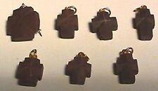 MINERAL Fairy Crosses Natural Staurolite Crystals SCHIST QUARTZ GARNET PENDANT