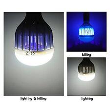 UV Light E27 LED Bug Zapper Light Bulb Flying Insects Killer 2in1 10W 6500K