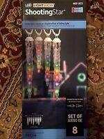 Gemmy Lightshow 8-light Multicolor Shooting Star Varied Size Icicle Light Set