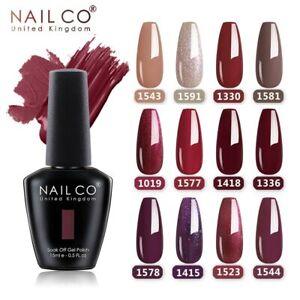 NAILCO 15ml Red Pink Colors Series Nail Gel Polish Soak Off UV LED Matte Varnish
