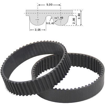 HTD 5M Close Loop Pulley Timing Belt Perimeter 170-590mm Width 15//20//25mm