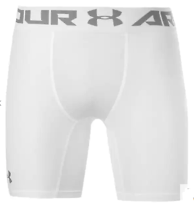 UNDER ARMOUR HeatGear Core 6 Inch Compress Shorts Mens White Size 2XL *REF148