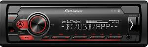 Pioneer-MVH-S410BT-1-DIN-Car-Stereo-AUX-MP3-USB-Input-Music-Sound-Bluetooth