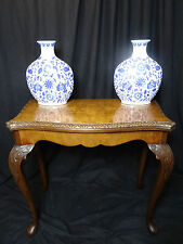 Museum Antique George II Style Vintage Burr Walnut Concertina Games Card Table