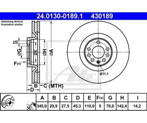 UAT 24.0130-0189.1 Disque de frein pour SAAB 9-3 9-3 cabriolet 9-3 Combi 2 St