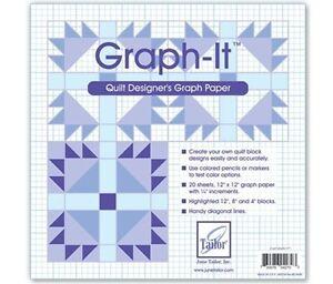 june tailor graph it quilt designer s graph paper 12 x 12 inch