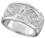NEW-Heavy-Mens-925-SOLID-Sterling-Silver-Eagle-Wedding-Ring-11mm-Gift-Box thumbnail 3