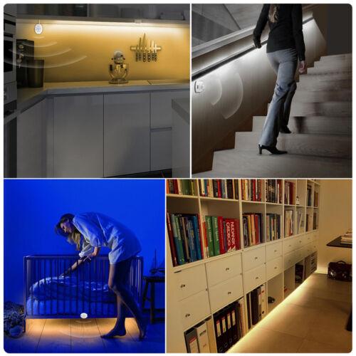 LED Under Cabinet light PIR Motion Sensor LED Strip SMD 2835 Night light Closet