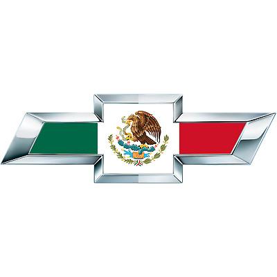 2 Silverado Mexican Flag Universal Chevy Bowtie Vinyl Sheets Emblem Overlay  | eBay