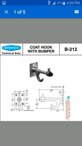Bobrick model B-212 Clothes hook with bumper
