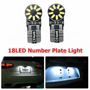 2X-T10-4014-18-SMD-LED-Numero-di-targa-Lampadine-per-luci-bianco-W5W-12V-6000K